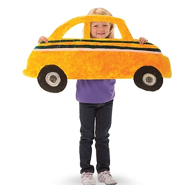 Roylco R75426 Big! Huge! Fingerpaint Paper Cars, 24/Pack