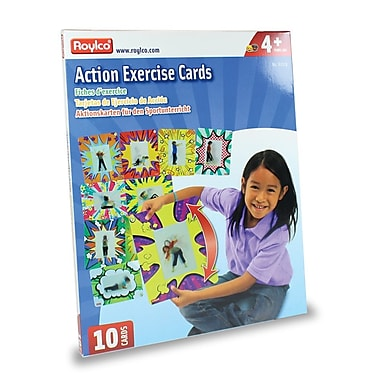 Roylco – Cartes d'exercice Action R62019, 10/paquet