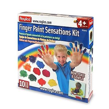 Roylco – Trousse de peinture à doigts Sensations R75415, 10/paquet