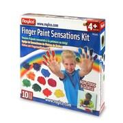Roylco R75415 Finger Paint Sensations Kit, 10/Pack