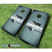 AJJCornhole 10 Piece US Air Force Imprint Cornhole Set; Yellow