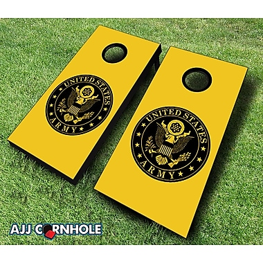 AJJCornhole 10 Piece US Army Seal Cornhole Set; Royal