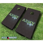 AJJCornhole 10 Piece Army Wife Cornhole Set; Navy