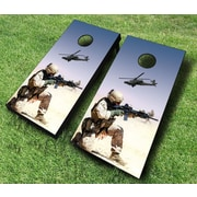 AJJCornhole 10 Piece Desert Warfare Cornhole Set; Black
