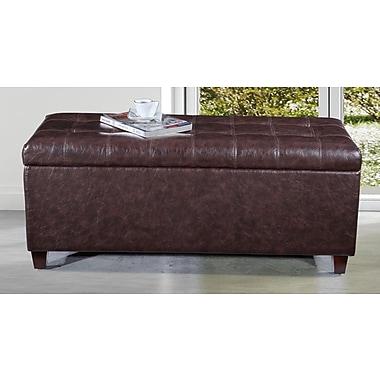 NOYA USA Classic Storage Bench; Dark Brown