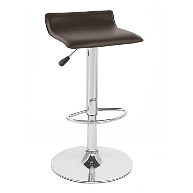 Vandue Corporation Sigma Adjustable Height Swivel Bar Stool (Set of 2); Brown