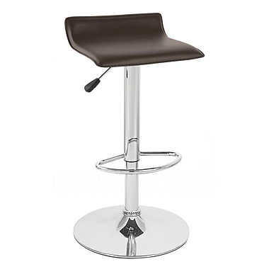 Vandue Corporation Sigma Adjustable Height Swivel Bar Stool; Brown