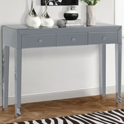 Gallerie Decor Reflections Console Table; Smoked Mirror