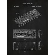 Inked and Screened Tech and Gadgets 'Corsair Gaming Keyboard' Silk Screen Print Graphic Art