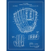 Inked and Screened Sporting Goods 'Baseball Glove Construction' Silk Screen Print Graphic Art