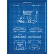 Inked and Screened Gaming 'Nintendo 64 Game Machine' Silk Screen Print Graphic Art
