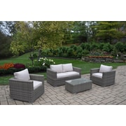 Oakland Living Borneo 4 Piece Sofa Set w/ Cushions