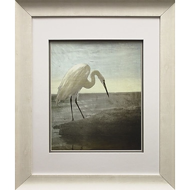 Star Creations Blue Heron by Martina Theodosin Framed Painting Print