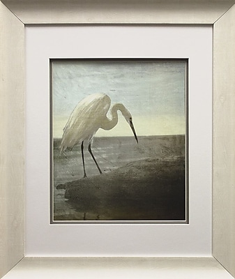 Star Creations ''Blue Heron'' Framed Painting Print on Paper