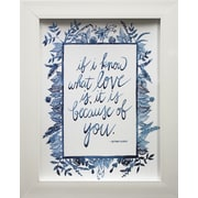 Star Creations Love Quote III by Grace Popp Framed Textual Art