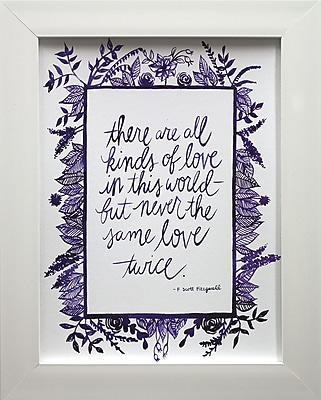 Star Creations Love Quote IV by Grace Popp Framed Textual Art