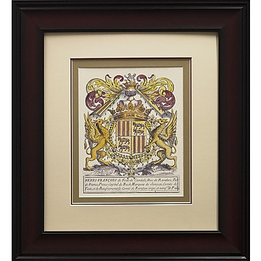 Star Creations Noble Heraldy II by Vision Studio Framed Graphic Art