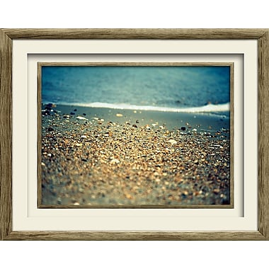 Star Creations Pebbles at the Beach I by Lisa Hill Saghini Framed Photographic Print