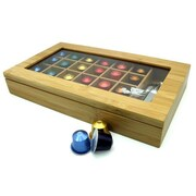 Vandue Corporation Modern Home Bamboo Nespresso 24 Capsule Organizer/Display Box