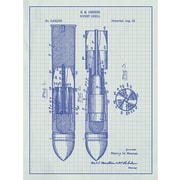 Inked and Screened Tech and Gadgets 'Rocket Shell' Silk Screen Print Graphic Art
