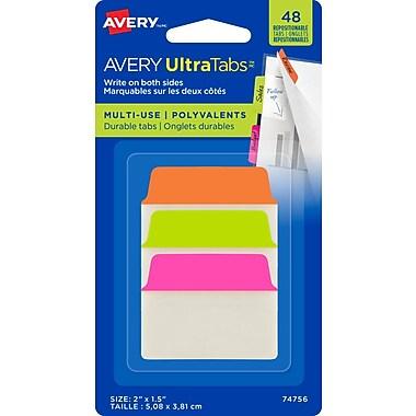 Avery® - Onglets Ultra Tabs, 2 po x 1 1/2 po, paq./48