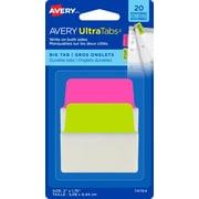 Avery® - Onglets Ultra Tabs,  2 po x 1 3/4 po, paq./20