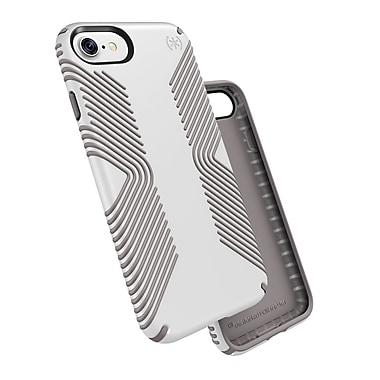 Speck Presidio Grip for iPhone 7, White/Ash Grey