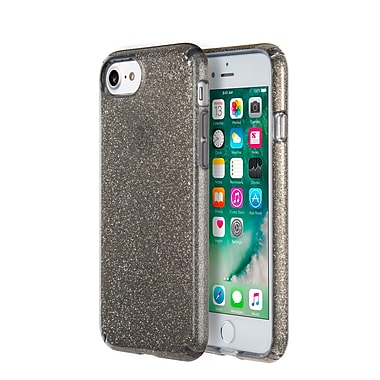 007068f019 Speck Presidio Clear Glitter for iPhone 7, Onyx Black Gold Glitter | Staples