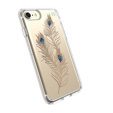 Speck – Étui Presidio Clear Graphic pour iPhone 7, plumes dorées voyantes