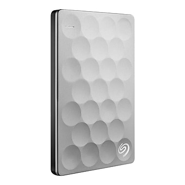 Seagate® – Disque portable Backup Plus ultra mince STEH2000100, USB 3.0, 2 To, platine