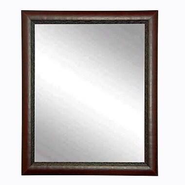 BrandtWorksLLC Carved Mahogany Wall Mirror; 30.5'' H x 34.5'' W