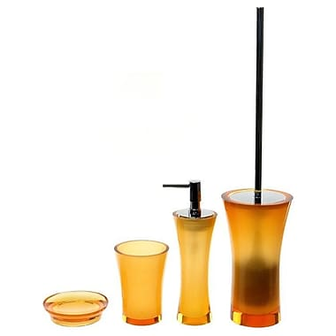 Gedy by Nameeks Aucuba 4-Piece Bathroom Accessory Set; Orange