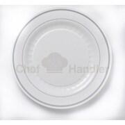 Chef Handler Mystique 100 Guest Bundle Elegant Plastic Plate Set
