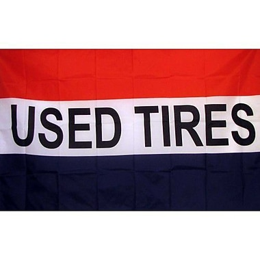 NeoPlex Used Tires Traditional Flag