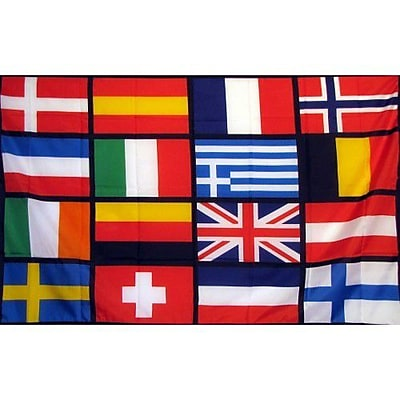 NeoPlex European Nations Soccer Traditional Flag