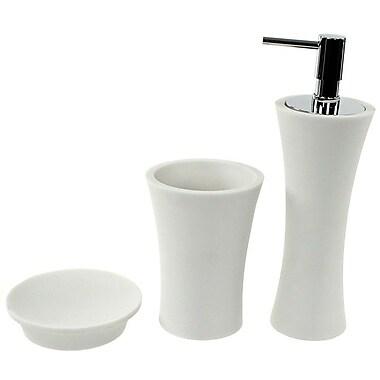 Gedy by Nameeks Aucuba 3-Piece Bathroom Accessory Set; White