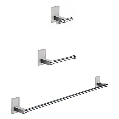 Gedy by Nameeks Maine 3 Piece Bathroom Hardware Set; White