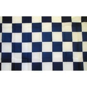NeoPlex Checkered Traditional Flag; Blue/White
