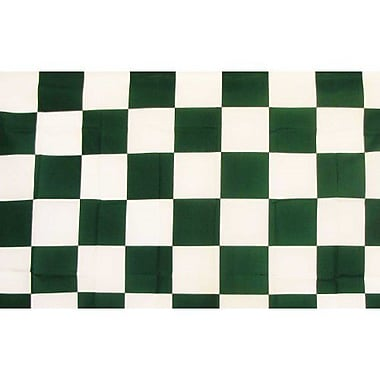NeoPlex Checkered Traditional Flag; Green/White