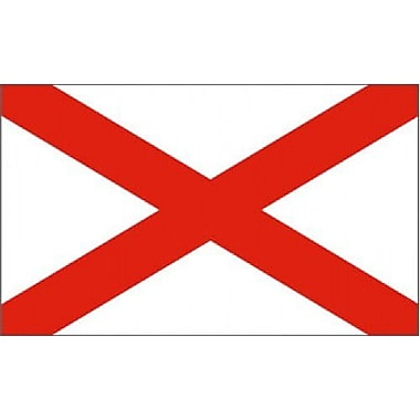 NeoPlex Alabama Traditional Flag; Polyester