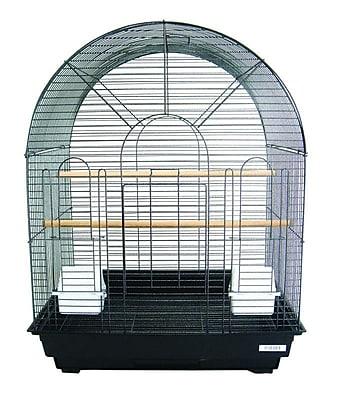 YML Round Top Small Bird Cage; Black