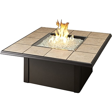 The Outdoor GreatRoom Company Napa Valley Crystal Fire Pit Table; Brown