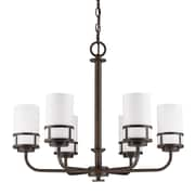 Acclaim Lighting Alexis 6-Light Shaded Chandelier; Oil Rubbed Bronze