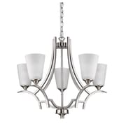 Acclaim Lighting Zoey 5-Light Shaded Chandelier; Satin Nickel