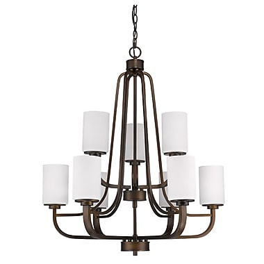 Acclaim Lighting Addison 9-Light Shaded Chandelier; Oil Rubbed Bronze
