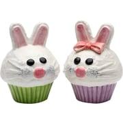 CosmosGifts Bunny Cupcake Salt & Pepper Set