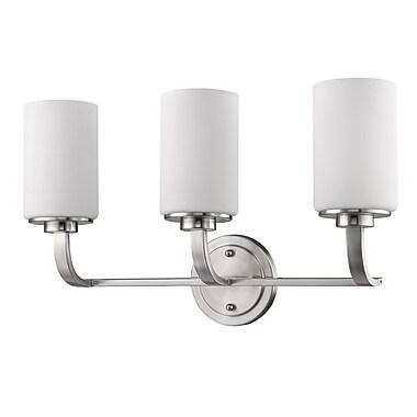 Acclaim Lighting Addison 3-Light Vanity Light; Satin Nickel