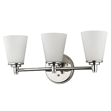 Acclaim Lighting Conti 3-Light Vanity Light; Polished Nickel