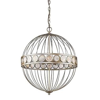 Acclaim Lighting Aria 6-Light Globe Pendant; Antique Silver
