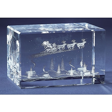 YTC Summit International Decorative Santa Clause Is Coming to Town Crystal Cube